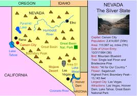 map of oregon nevada nevada interactive map facts statistics and activities