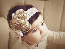 vintage headbands ivory caramel vintage headband child by daniellasjewels