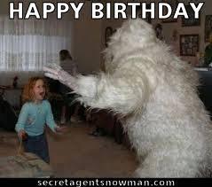 Frosty The Snowman Happy Birthday Meme - happy birthday