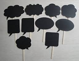 10pcs wedding photo booth props signs speech bubbles on amazon co