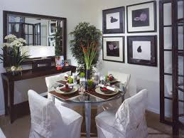 how to visually enlarge small dining room