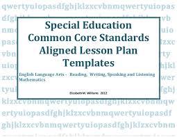 172901 special educationcommoncorestandardsalignediep lessonplantempl u2026