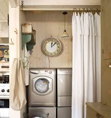 Laundry Room Curtains White Laundry Room Curtains With Vintage Curtain Rods Decolover