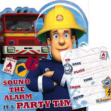 fireman sam 10 party invitations danilo
