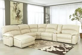 Leather Match Upholstery Ashley Furniture Damacio Zero Wall Armless Recliner In Cream