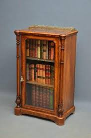 Bookcases With Sliding Glass Doors Vintage Bookcase With Sliding Glass Doors Antique Wooden For Sale