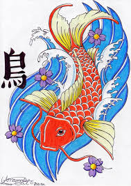 Japanese Fish Flag Great Japanese Artist Koi Fish Tattoo Design Tattooshunter Com