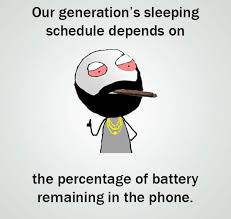 Battery Meme - generation sleeping schedule depends on phone battery funny meme