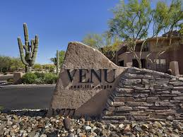 2 bedroom scottsdale condo for sale with attached garage in gated venu at grayhawk community entrance