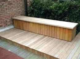 exterior storage bench deck storage bench ideas floorganics com
