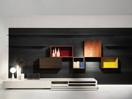 contemporary tv wall unit wooden by piero lissoni modern