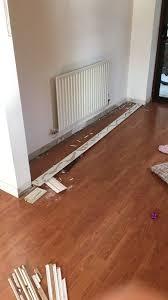 laying venezia oak laminate flooring from wickes of