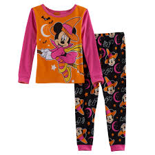 minnie mouse toddler striped halloween glow in the dark top