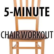 Chair Squat Dr Oz Chris Powell Chair Squat High Knees Chair Crunch Exercises