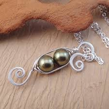 two peas in a pod jewelry green pea pod necklace