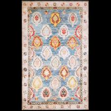 Antique Indian Rugs Agra Cotton Rug 21360 Indian 4 U0027 2 U0027 U0027 X 6 U0027 9 U0027 U0027 Light Blue