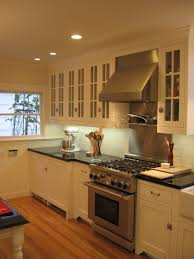 White Maple Kitchen Cabinets Nordic Black Granite Transitional Kitchen