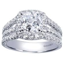 gabriel and co wedding bands gabriel co contemporary collection cushion halo diamond