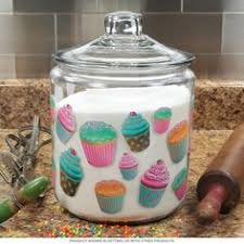 cupcake canisters for kitchen cupcakes glass kitchen canister metal lid 96 oz kitchen