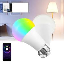 smart lights google home e27 7w rgbw wifi app control led global smart light bulb for echo