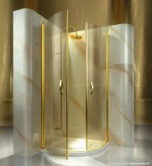 hinged glass shower doors glass shower cubicle curved with hinged door gold at