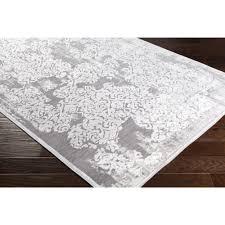 Modern Damask Rug Surya Carpet Inc Ziva Ivory White Modern Damask Area Rug 7 10 X