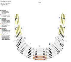 kimmel center seating charts view seat selection academy of music opera verizon