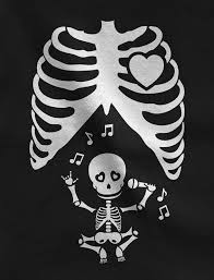 halloween funny pregnant x ray rib cage skeleton singing baby