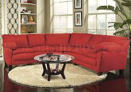 Red Sectional Sofas by Red Micro Suede Casual Sectional Sofa W Super Soft Arm Pillows