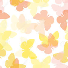 light seamless butterfly background on white royalty free cliparts