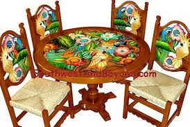 Mexican Chairs Hand Painted Mexican Table Sets