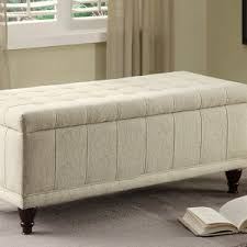 white leather storage ottoman bench all about images on