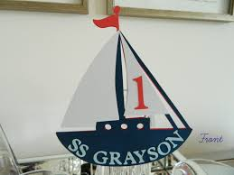 sailboat cake topper sailboat cake topper birthday cake topper nautical baby