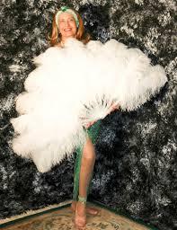 large feather fans prop images