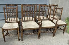 Oak Spindle Back Dining Chairs Spindleback Chairs Antique Dining Room
