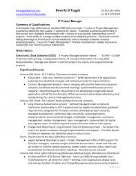 Technical Project Manager Resume Pmp Sample Resume 5 Entry Level It Project Manager Resume