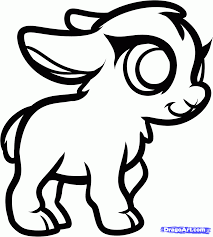 how to draw a baby goat step by step farm animals animals free