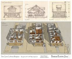 Craftsman Bungalow Floor Plans Three Classic Craftsman Bungalows By Built4ever On Deviantart