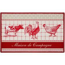 poule deco cuisine tapis déco rustique cuisine imprimé rustique poule ferme 50x80cm