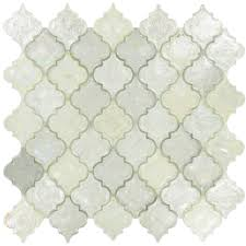 arabesque silver glass arabesque tile glossy iridescent dtl3004