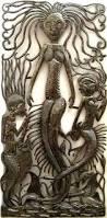 Mermaid Garden Decor Metal Art Mermaid Wall Decor Haitian Steel Drum Metal Design