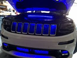 jeep srt8 grill 2012 2015 jeep srt8 engine bay and front bumper led kit mvz