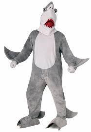 Jaws Halloween Costume Plush Furry Chomper Shark Jaws Standard Size Mascot Suit