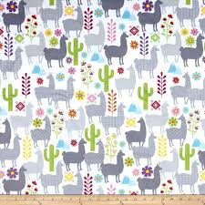 llama wrapping paper minky llama minky print white discount designer fabric fabric