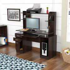 credenza computer workstation hutch desk furniture office vintage