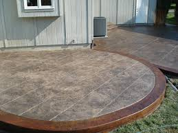 Stamped Concrete Backyard Ideas Concrete Patio Ideas Patio With Colored Concrete Indoor Outdoor