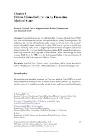 Fresenius Bad Homburg Online Hemodiafiltration By Fresenius Medical Care Pdf Download