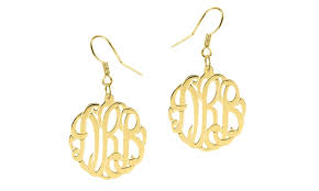 monogram earrings script monogram earrings monogramhub groupon