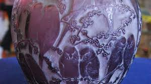 Amethyst Glass Vase Lalique