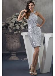 silver dresses for a wedding sequined halter silver wedding guest dress